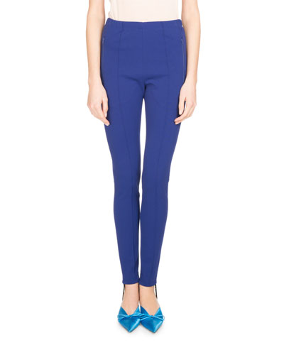 Jersey Stirrup Pants, Blue