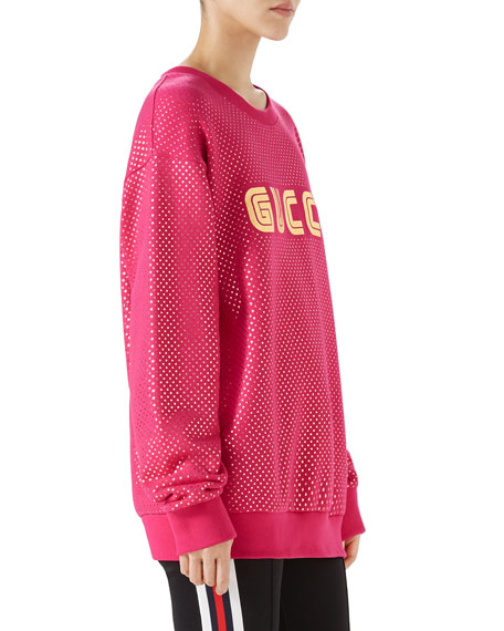 Long-Sleeve Oversized Guccy Gaming Sweatshirt