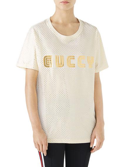 a7d5eac654f9 Gucci GUCCY Logo T-Shirt