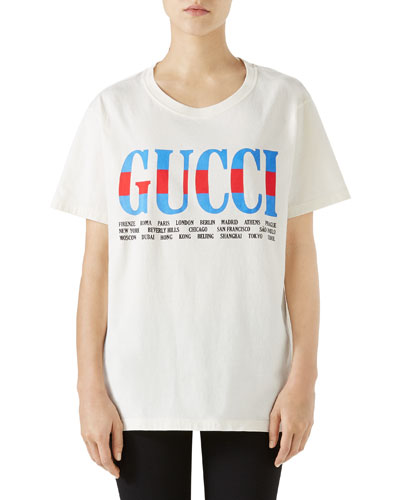 Short-Sleeve Crewneck Gucci-City T-Shirt