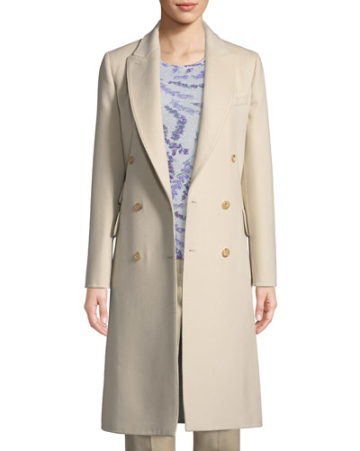 Armonia Double-Breasted Wool-Cashmere Coat