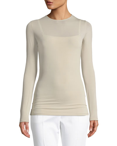 Plava Crewneck Long-Sleeve Top