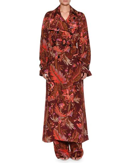 Paisley Silk Trenchcoat