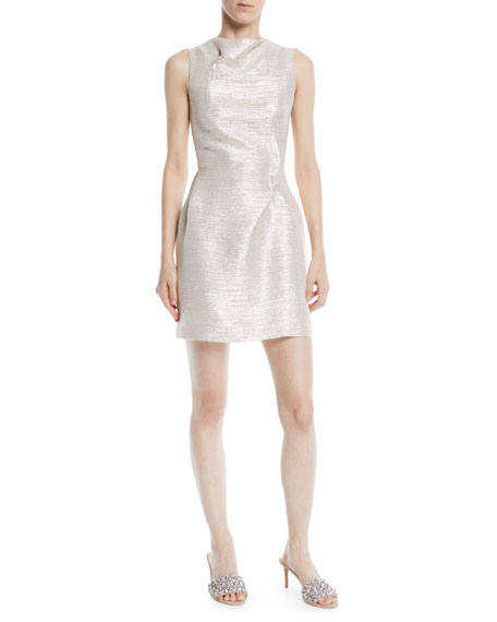 High-Neck Sleeveless Lurex® Cocktail Dress