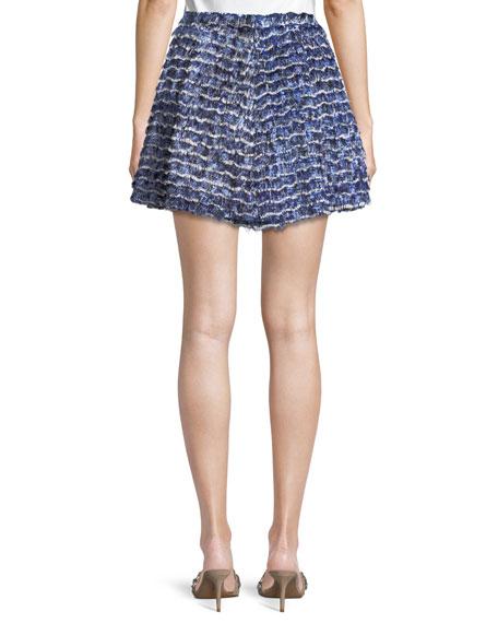 Fil Coupé Ruffle Mini Skirt