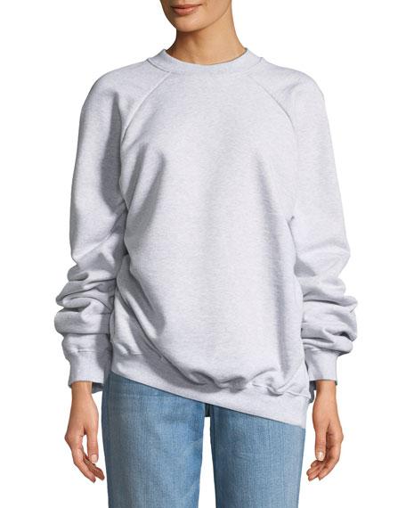 a40109b95c71b8 Vetements Unskinny Crewneck Cotton Jersey Sweatshirt