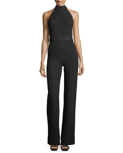 Mock-Neck Bow-Detail Jumpsuit