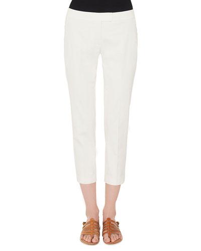 Frances Skinny-Leg Cotton Gabardine Cropped Pants