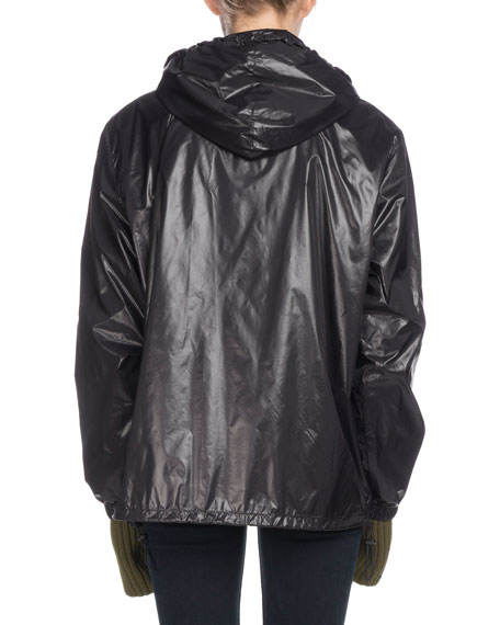 PSWL Hooded Zip-Front Nylon Wind-Resistant Jacket