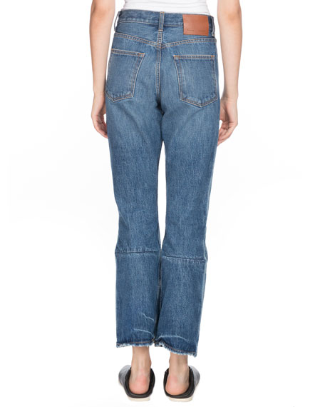 PSWL Cropped Flare Straight-Leg Jeans