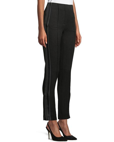 Skinny Tuxedo-Style Cropped Pants