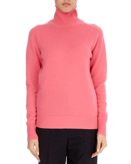 VICTORIA BECKHAM Cashmere Blend Turtleneck Sweater, Pink