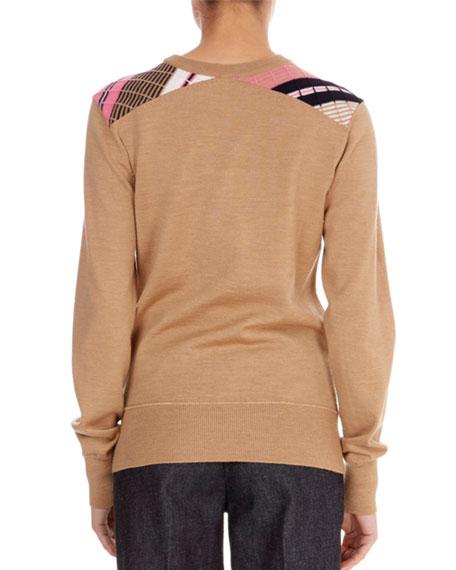 Multi-Stripe Wool Crewneck Sweater