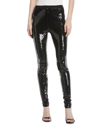 Heavy-Sequin Leggings