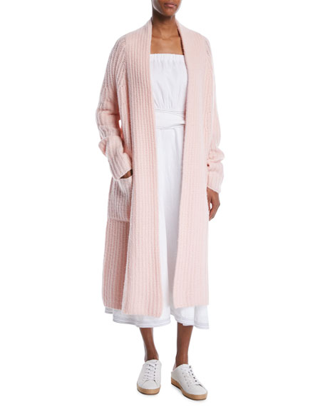 Open-Front Cashmere Oversized Knit Cardigan
