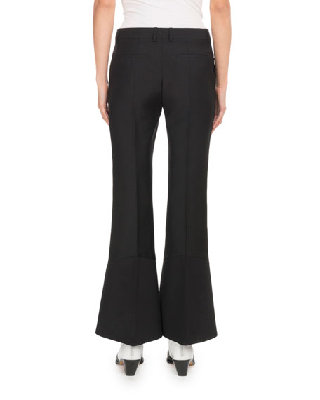 Wool Mini Flared Trousers