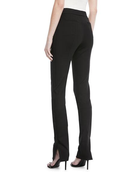 Side-Slit Skinny Pants