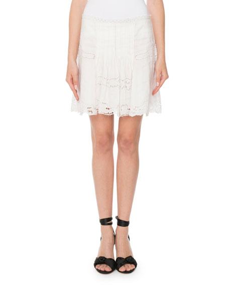 Ramie Eyelet Mini Skirt