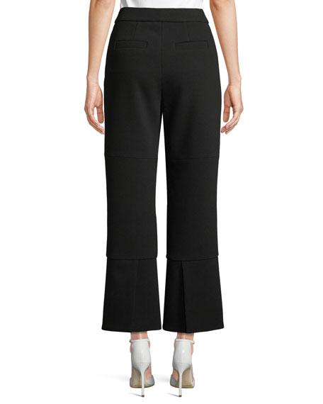 Cropped Crepe Pants w/ Slit Back