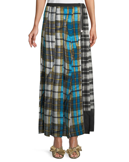 f42a7a15a8 Marc Jacobs Pleated Plaid Skirt w/ Slit