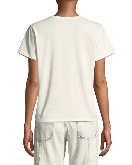 Reverse-Logo Crewneck Short-Sleeve Cotton T-Shirt