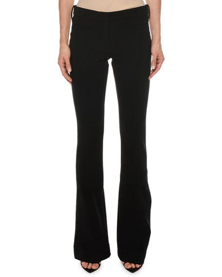 Double-Wool Stretch Flare-Leg Pants