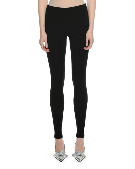 Stretch-Cashmere Leggings