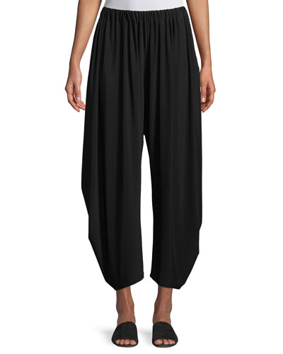 Dropped-Inseam Cropped Jersey Pants