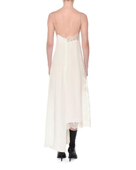 Angie Marocaine V-Neck Sleeveless Silk Lace Cami Dress