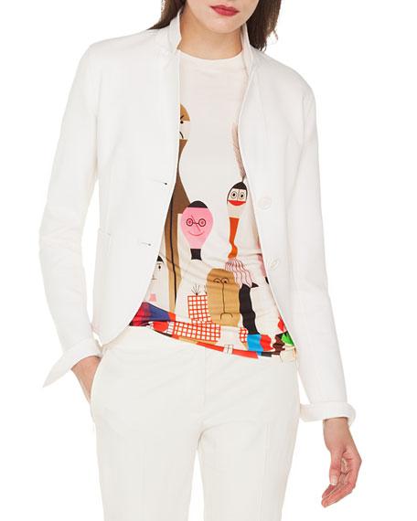 Akris Wool-Cashmere Button-Front Jacket