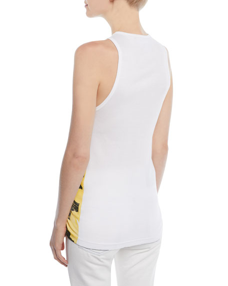 Andy Warhol Scoop-Neck Floral-Print Cotton Tank