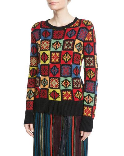 Star-Studded Intarsia Sweater