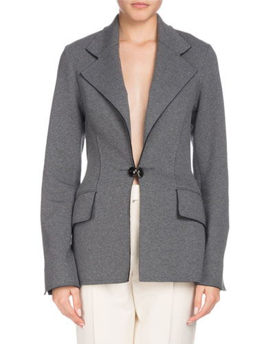 Single-Breasted Notched-Collar Tailored Blazer