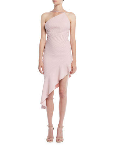 Sleeveless Pleated Backless Cocktail Dress