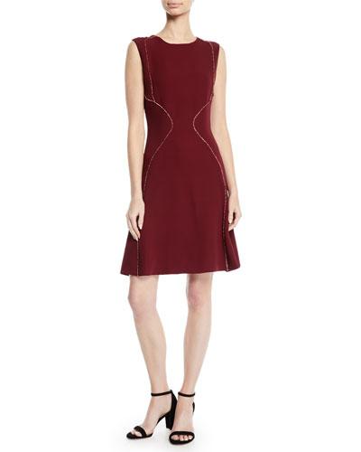 Sleeveless A-Line Silk Dress