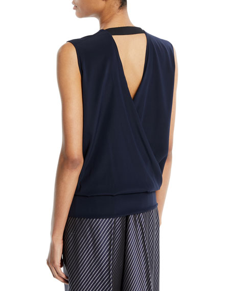 Jazmin Wrap Silk-Blend Top