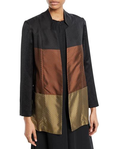 Ellie Colorblock Long-Sleeve Jacket