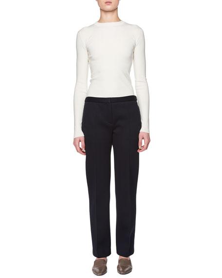 Tanea Flat-Front Straight-Leg Pants