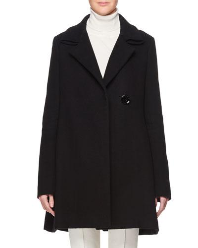 Ralty Single-Breasted Wool-Blend Pea Coat