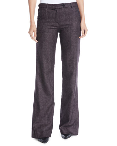 Wide-Leg Cashmere-Blend Pants