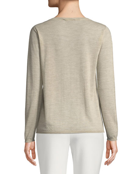 Charles Cashmere Crewneck Pullover Sweater