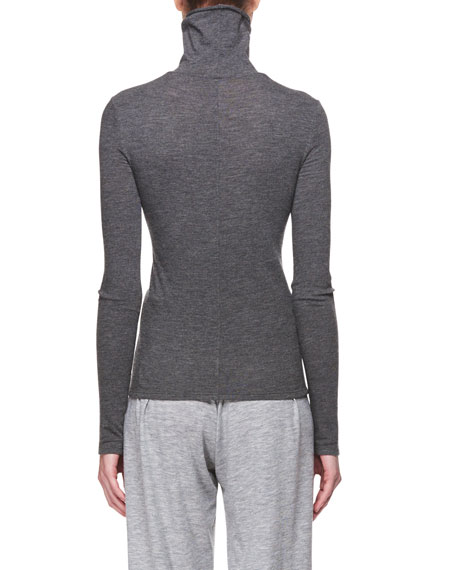 Turtleneck Long-Sleeve Cashmere Top