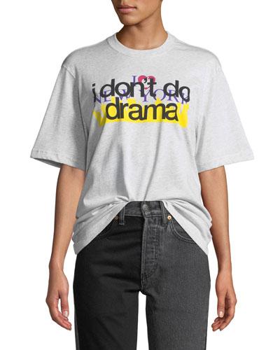 Short-Sleeve Crewneck Cotton New York Drama Tourist Tee