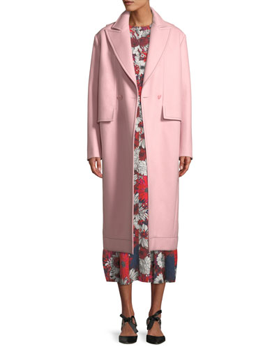 Peak-Lapels Double-Breasted Oversized Wool Coat