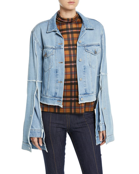Extended Split-Sleeve Denim Jacket