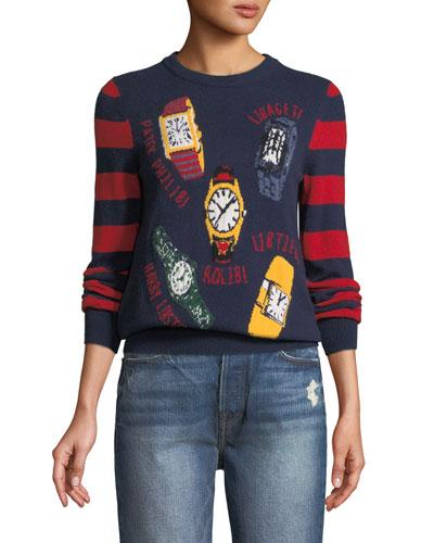 Time 4 Love Stripe Cashmere Sweater