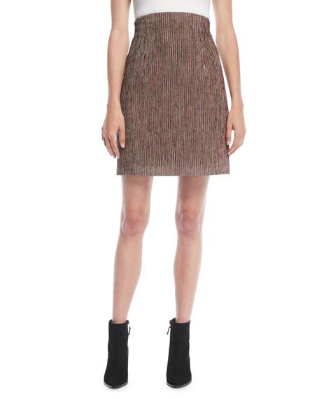 High-Rise Variegated Corduroy A-Line Mini Skirt