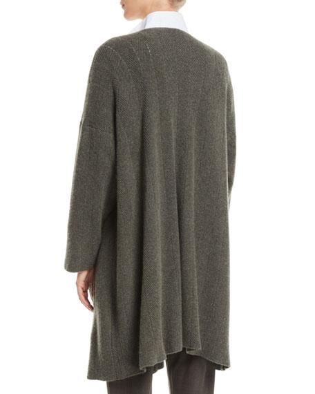 Open-Front Cashmere Cardigan Jacket