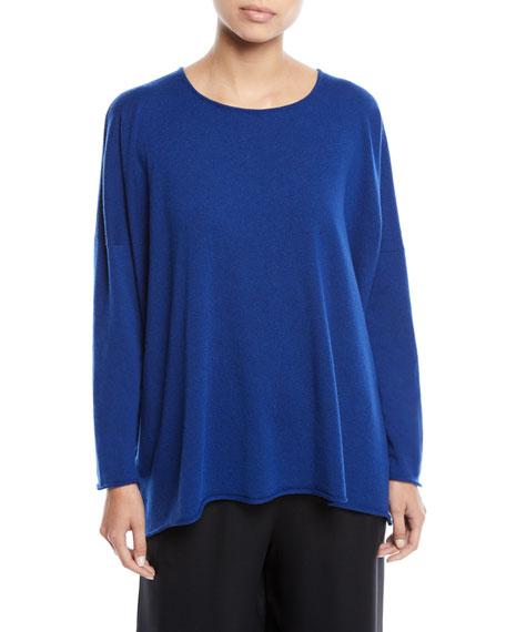Eskandar Bateau-Neck Long-Sleeve Cashmere Sweater