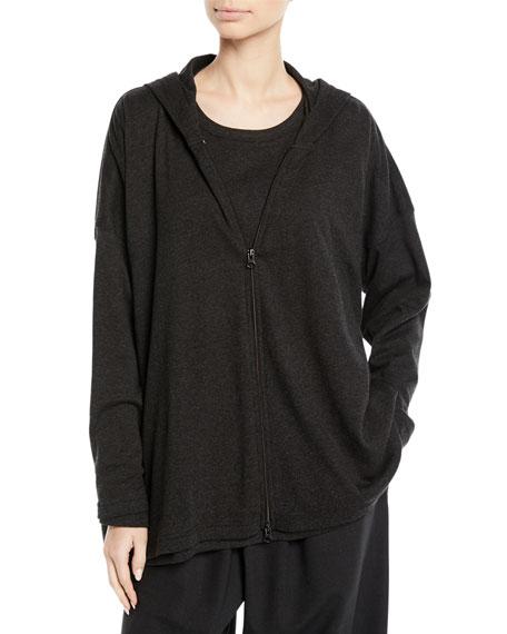 Eskandar Zip-Front Smaller Front Larger Back Pima Cotton